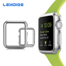 LEMDIOE Hard PC Watch Case For Apple Watch iWatch 38mm 42mm Armor Ultra Slim Accessories Guard Back Cover Shell