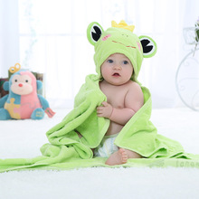 Cute Animal Cotton Cartoon Baby Kid's Hooded Bath Towel Toddler Blankets/baby bathrobe/infant beach towels 100X100cm(China)