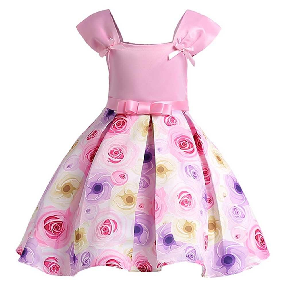 Ragazze-di-Estate-del-Vestito-ragazza-Principessa-floreale-Abiti-Da-festa-Per-Bambini-vestiti-di-Cerimonia