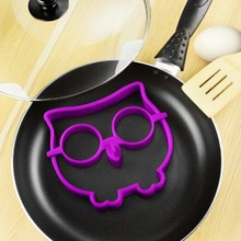 NewHot 1pc Cute Silicone Owl Egg Fried Shaped Mold Shaper Ring Kitchen Cooking Tool Q117(China)