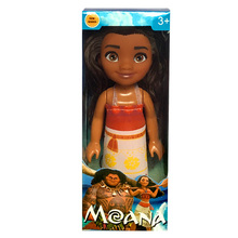 "Disney Kid Tos 6"" Mini Princess Moana Doll With Box Kawaii Pvc Action Figure Doll Toy Anime Birthday Gifts For Baby Girls"