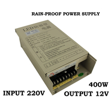Transformer 12v 400w external in42patients module with lights rainproof switching power supply led power supply(China)