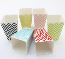 Free Ship 240pcs Mini Popcorn Boxes Wedding Party Favour Lolly Box Retro Cinema Pop Corn
