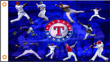 sport flag mlb texas rangers banner 3x5ft 100% Polyester free shipper 02(China)