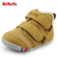 Crtartu Infant Baby Girls Boys First Walkers Shoes Autumn Winter Plush Warm Shoes Toddler Soft Soled Baby Boots CSH417(China)
