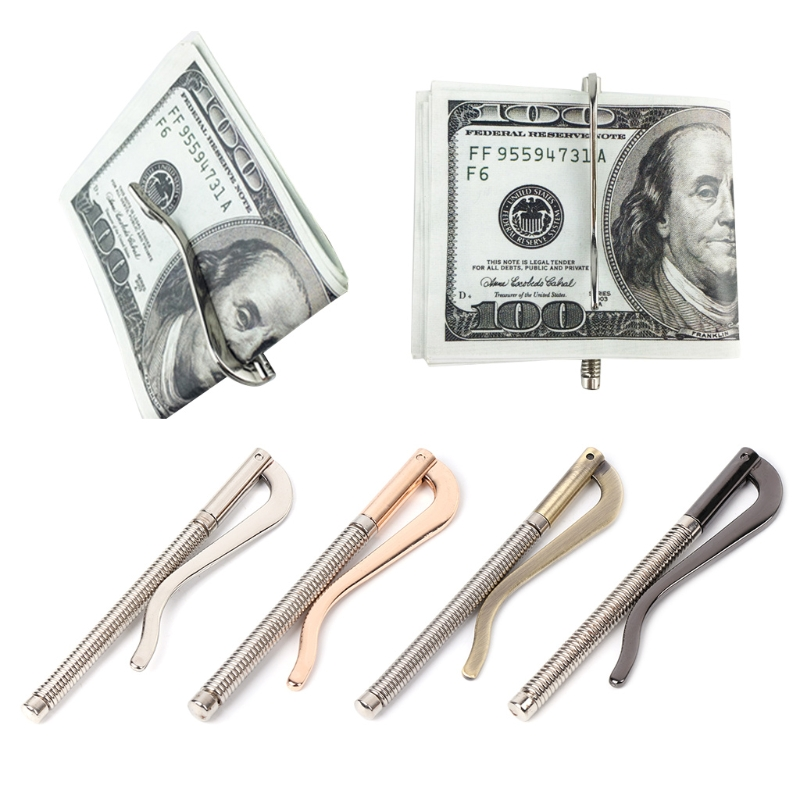 Wallet Cash-Holder Money-Clip Bifold Metal Gold Spring-Clamp Silver Black Bar Replace-Parts title=