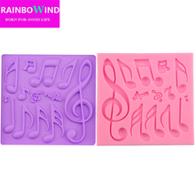 Beautiful And Classics Different Music Note Shape Silicone Fondant Cake Lace Mold Cake Mould Bakeware