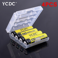 YCDC 4pcs AA 2000mAh High Density Rechargeable Battery HR6/MN1500/LR6 Ni-MH Cells For Digital Cameras, CD/MP3 Players(China)