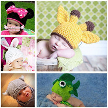 Hot Sale Baby Beanies Kids Crochet Hat Handmade Knitted   Toddler Animal Cap Pattern Lovely Children Hat SG022