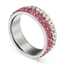 Fleure Esme Romantic Style Women Jewelry Gift Titanium Steel Ring Blue Pink Brown Cubic Zirconia CA1033 Panic buying best sell