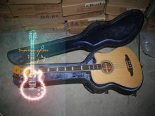Wholesale and retail Acoustic BASS Acoustic Electric BASS Guitar in Nature Color Free Shipping(China)