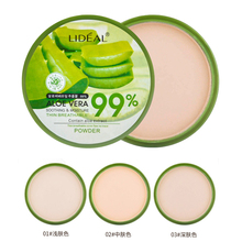 Natural Smooth Concealer Face Pressed Powder Pores Cover Brighten Powder Aloe Vera Essence Moisturizing Powder Make Up Palette(China)