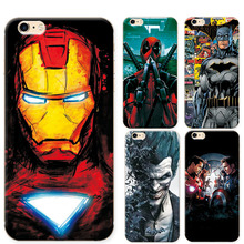 "Phone Cases For Iphone 6Plus 6S Plus Soft TPU Super Charming Marvel Avengers Heroes Case Cover For iphone 6s+ 6Plus 5.5"" Funda"
