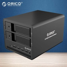 ORICO Tool Free Aluminum 2bay SATA to USB3.0 3.5 inch With RAID Function HDD Enclosure HDD Docking Station Case(9528RU3-BK )