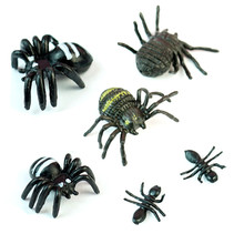 50pcs/lot Prank Funny Trick Joke Toys Special Lifelike Model Simulation Fake Plastic spider Bug Roaches Toy