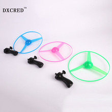 Pull Line Flashing Frisbee Flash UFO Outdoor Luminous Suspension UFO Flying Magic Plate Children's Luminous toys gift(China)