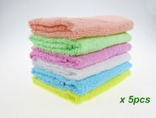 5PCS Super absorption hot sale promotion 100% cotton candy color hand towel useing kitchen cute 26x26cm cheap for wholesale