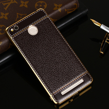 luxury soft phone back coque cover case for Xiaomi redmi 3s redmi 3pro/xiaomi M2  Litchi Grain Painting Soft TPU Back Cover Case