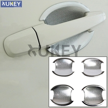 Fit For Mitsubishi Challenger Pajero Sport Montero Sport Chrome Trim Door Handle Bowl Cover 2009 2010 2011 2012 2013 2014(China)
