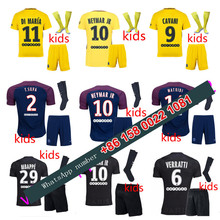 2017 2018 psg kids set jersey 17 18 Home Away football camisetas Thai AAA shirt survetement football Soccer jersey(China)