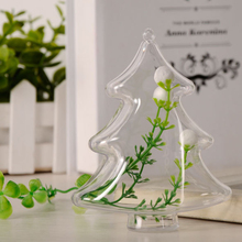 1 Pc Eternal Flower Preservation Container Transparent Plastic Christmas Tree Shape Ball Candy Box Home Hanging Decor P30