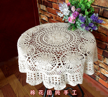 Hand Crochet openwork Lace Tablecloths drape Round Coffee Table cloth Furniture Cover cloth Cotton Doilies Sofa towel