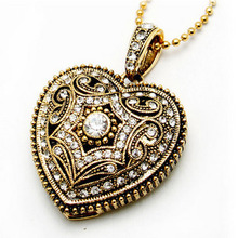 Necklace Gift Jewelry USB Flash Drive 32GB 64GB Gold Heart Pen Drive 128GB Usb Memory Stick Card Disk Key Pendrive 512GB 2.0
