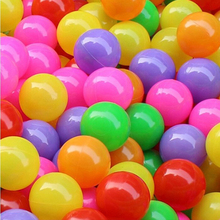 7CM 50pcs Eco-Friendly Colorful Soft Plastic Water Pool Ocean Wave Ball Baby Funny Toys Stress Air Ball Outdoor Fun Sports kids(China)