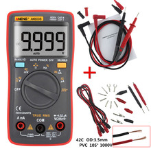 Hot ANENG AN8008 Auto/Manual Digital Multimeter 9999 counts With Backlight AC/DC Ammeter Voltmeter Ohm