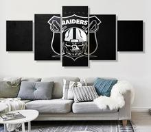 NO FRAME Sports Rugby Stadium Team Logo Oil Painting Canvas  For Living Room 5PANELS Set RAIDERS Wall Art Decorations