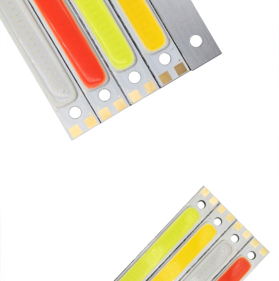 120mm 12v 10w 1000LM cob led light strip chip bulb lamp red blue white (5)