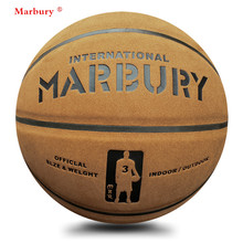 Marbury quality suede genuine leather 7# basketball ball cement wear-resistant hydroscopic slip-resistant