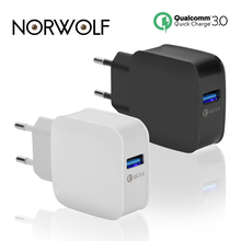 Buy NORWOLF Phone Charger Quick Charge 3.0 18W Fast USB Charger (Quick Charge 2.0 Compatible) Samsung Xiaomi 5 Huawei iphone for $3.59 in AliExpress store