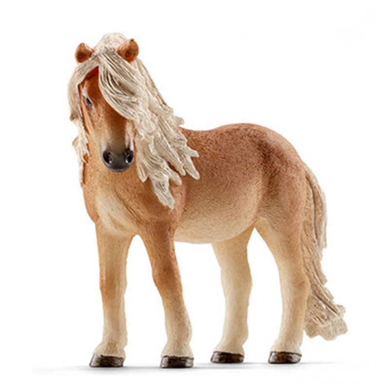 Original 13cm Simulation Animal Figurine Model Toy Yellow Horse Figure Doll PVC Decorative Figure Toy Gifts<br><br>Aliexpress