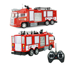 High Simulation Remote Control Fire Truck Fire Engine RC Sprinkler Car with Lights Sirens Sounds 31.5*8.5*9.2 Child Toy Gifts(China)
