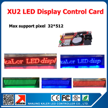 kaler USB input XU2 led control card led display message led controller card for single dual color led sign board with 2pcs T12