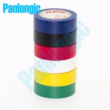 6PCS 6 Colors 10Meters/pcs Electrical Tape Insulation Adhesive Tape High Temperature Insulation Tape Waterproof PVC Tape(China)