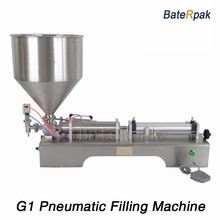 G1 stainless steel horizontal pneumatic paste automatic filling machine,BateRpak high viscosity paste filling machine,5-100ml(China)