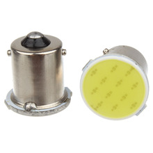 2x Super Bright S25 1156 led COB 12 SMD 1156 BA15S P21W Auto Car Signal Reverse Led Lights White Yellow 12V Auto Led