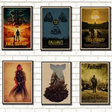 Fallout 3 4 Game Poster Fallout Series Game retro Poster Retro Kraft Paper Bar Cafe Home Decor Painting Wall Sticker /2030