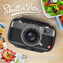 Free Shipping 1Piece Bento Storage Box W Compartments Black Shutterbox Gameboy Bento Box Food Container Box Novelty Gift