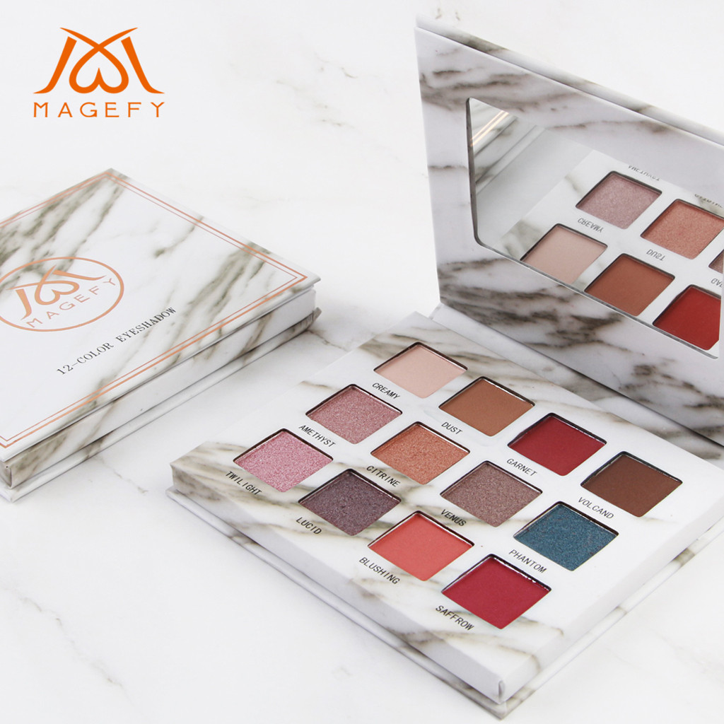 New Hot Popular 12 Color Marble Eyeshadow Palette Professional Fashion Makeup Eye Shadow Palette Cosmetic Set Eye Shadow Beauty Beauty & Health