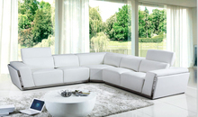 Modern living room sofa furniture leather corner sofas for L shaped sectioanl sofa(China)
