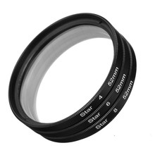 3 pcs/lot 52mm 4point+6piont+8point 4X 6X 8X Star Filter Kit Point Line Filter Lens FOR CANON for NIKON For PENTAX Camera