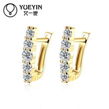 gold plating earrings for women wedding jewelry fashion earrings for gift nausnice Jewelry supplier Romantic