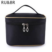 RU&BR Fashion Large Capacity Cosmetic Bag Extra Big High Quality Women Waterproof Solid Travel Necessaire Toiletry Make Up Bags(China)