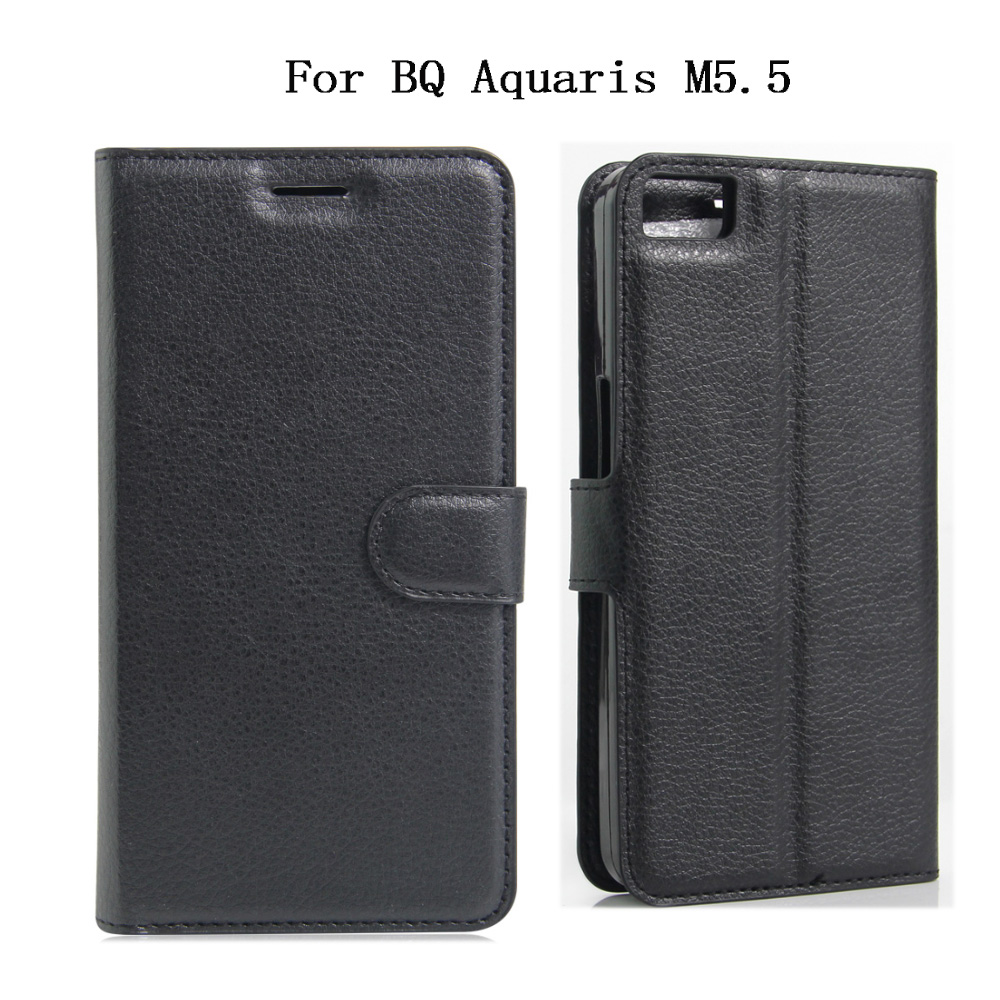BQ Aquaris M5.5 Case 2016 Luxury PU Leather Back Cover Card Slots Protective Skin Flip Mobile Phone Bag BQ Aquaris M5.5