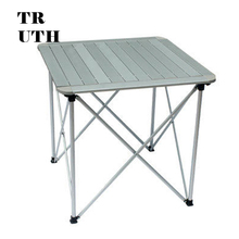 Authentic outdoor folding aluminum table CMARTE camping tables Ultraportability 70 * 70 * 70CM