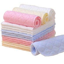 10pcs/lot Tsaujia 3 Layers Ecological Cotton Baby Cloth Nappy Inserts Reusable Washable Diapers Nappy Changing  KF005