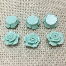 no hole 10mm resin flowers cabochons cameo flat back no hole nail decoration rose mobile phone case glue on scrapbook jewelry